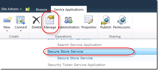 Manage Secure Store Service
