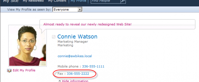 How to Show the Fax Number in People Search Results in SharePoint 2010