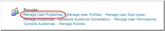 Link to Manage User Profiles
