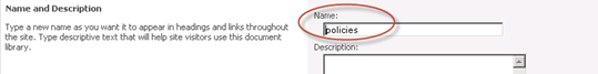 SharePoint Library Title, Description, and Navigation