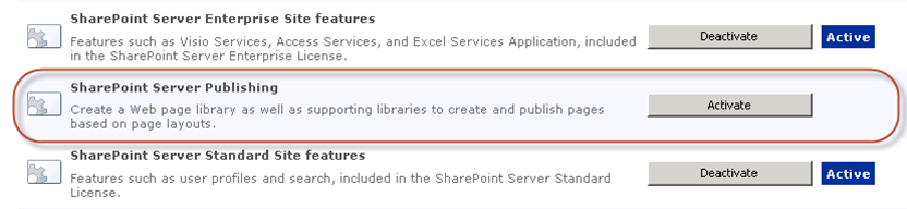 Activate SharePoint Server Publishing if the Content Query Web Part is missing