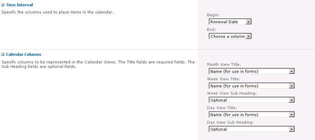 creating a Calendar View for a SharePoint Library