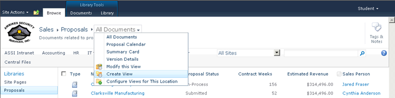 Create a custom SharePoint library view