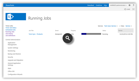 Term Sync 2013 Screenshots - Automated Sync Jobs